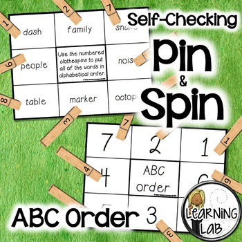 ABC Order - A Pin & Spin Activity