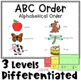 ABC Order Activities Differentiated