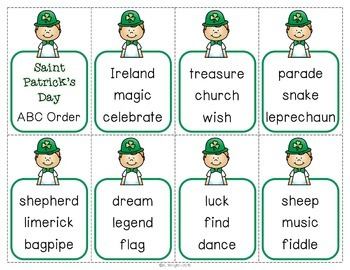 ABC Order Activities ~ St. Patrick's Day