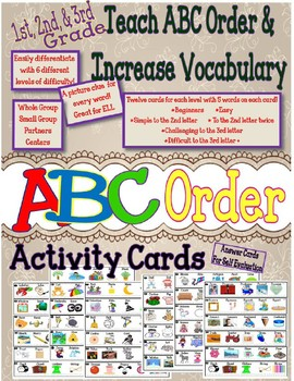 ABC Order Activity Cards
