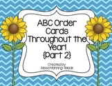 ABC Order All Year Long {Part 2}