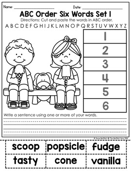 ABC Order (Alphabetical Order) NO PREP Packet