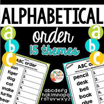 ABC Order printables is perfect for practicing alphabetical