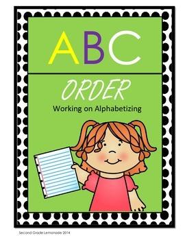 ABC Order - Alphabetizing Practice