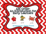 ABC Order: An Introduction for Early Learners