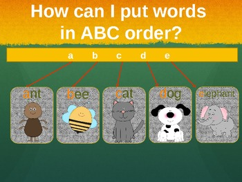ABC Order: An Introductory Slideshow