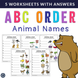 ABC Order {Animal Names} Years 1 - 2