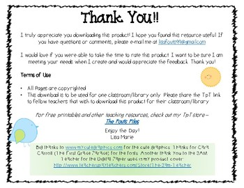ABC Order Author Line Up Task Cards