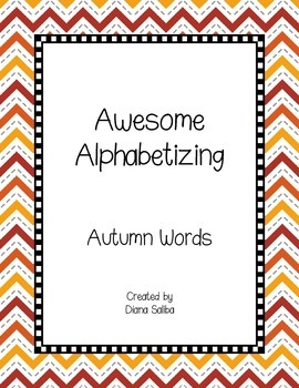 ABC Order- Autumn Words