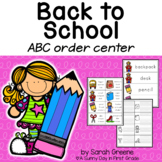 ABC Order: Back to School