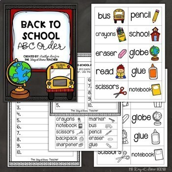 ABC Order - Back to School