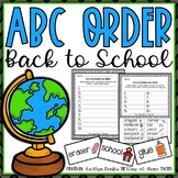 ABC Order Back to School