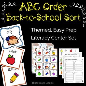 ABC Order Back to School Sort