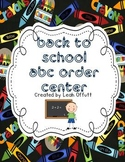 ABC Order -Back to School Theme