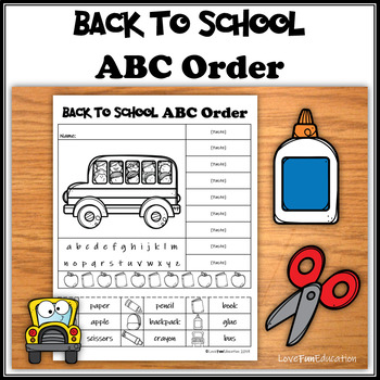 ABC Order Back to School (no prep)