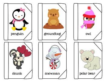 ABC Order Books Winter Words