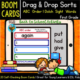ABC Order   Boom Cards   Sight Words First Grade   Drag and Drop Sorts