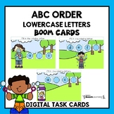 ABC Order -Boom Task Cards-Lowercase letters-Distance Learning