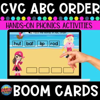 ABC Order CVC Words Boom Cards