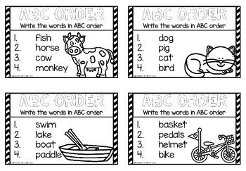 ABC Order Cards (K-2)