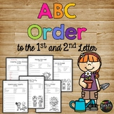 ABC Order Worksheets Alphabetical Order Pages for 1st, 2nd, 3rd