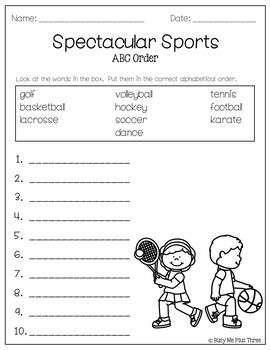 ABC Order Worksheet FREE Alphabetical Order Activities - 1st & 2nd ...