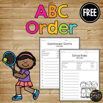 ABC Order Celebration FREEBIE Alphabetical... by Busy Me Plus ...