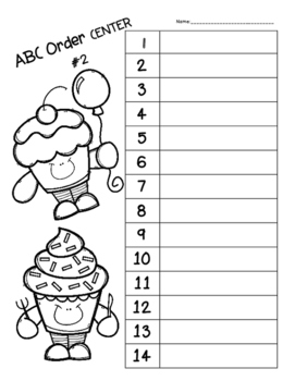 ABC Order Center - 2 Centers in 1!