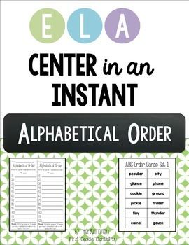 ABC Order: Center in an Instant