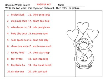 ABC Order Centers--by First, Second, or Third Letters---Valentine's Day theme