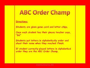 ABC Order Champ
