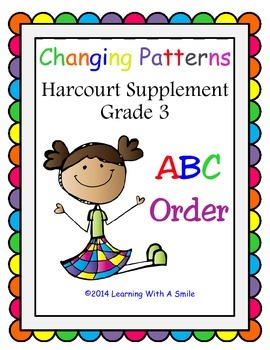 Harcourt GRADE 3 Supplement ABC ORDER  (Changing Patterns Theme)