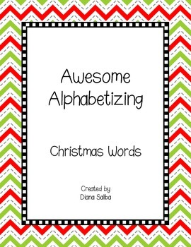 ABC Order- Christmas Words