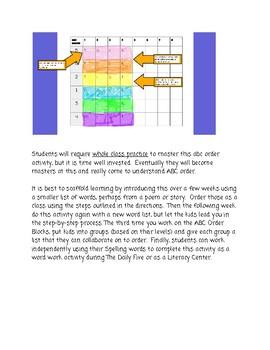 ABC Order Color Blocks