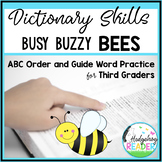 Dictionary Skills - Bee CCSS ABC Order & Guide Words