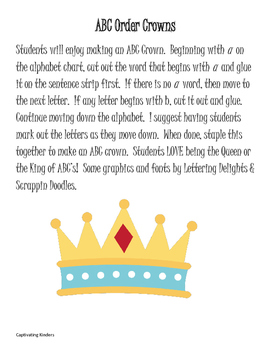 ABC Order Crowns