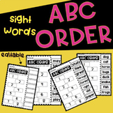 ABC Order Cut & Glue!
