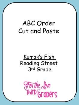 ABC Order Cut and Paste Kumak's Fish