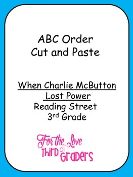 ABC Order Cut and Paste Unit 1 Reading Street 3rd Grade
