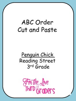 ABC Order Cut and Paste Unit 2 Bundle Reading Street 3rd Grade
