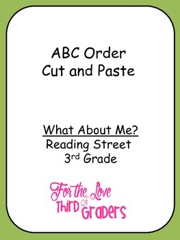 ABC Order Cut and Paste What About Me?