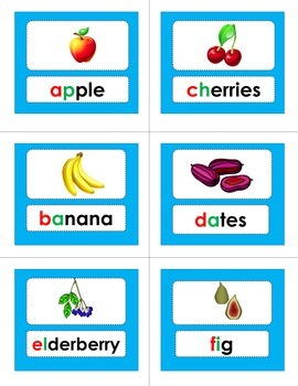 ABC Order - Fruits and Veggies