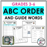 ABC Order, Alphabetical Order Worksheets, Task Cards, Dictionary, Guide Words
