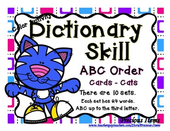 ABC Order - Dictionary Skill - Sneaker Cats