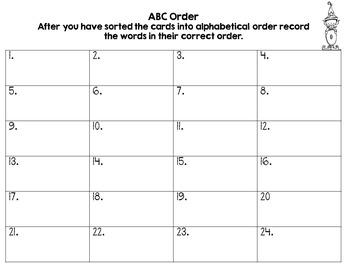 ABC Order - Elves' Workshop
