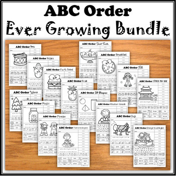 ABC Order Ever Growing Bundle (no prep)