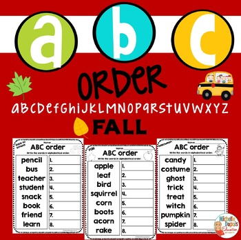 ABC Order - FALL - AUTUMN - alphabetical order