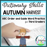 Dictionary Skills - Fall & Autumn ABC Order and Guide Words CCSS Activities