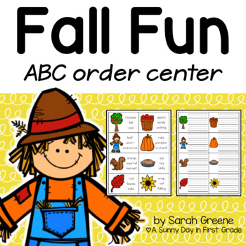 ABC Order {Fall & Halloween Sets}