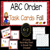 ABC Order ~ Fall ~ Task Cards, SCOOT, Alphabetical Order Center